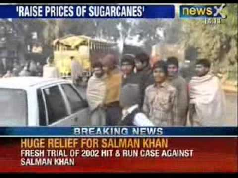 Sugarcane Row : Sugarcane Farmers Block National Highway 58 - NewsX