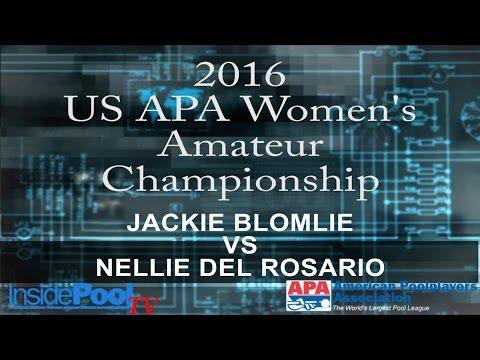 2016 U S  APA Womens Amateur Championship Jackie Blomlie vs Nellie Del Rosario