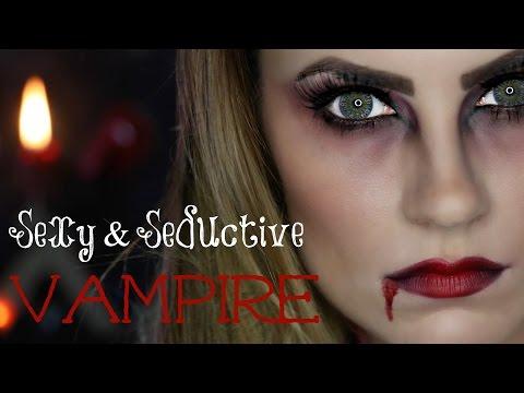 Sexy Seductive Vampire Halloween Makeup Tutorial | Angela Lanter