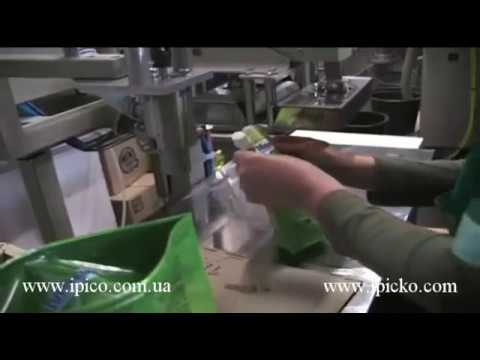 Semi-automatic DOY-PACK machie  for filling and packing liquid products