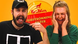 Irish People Try Surströmming (World's Smelliest Food)