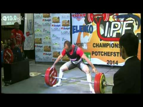 Hassan El Belghitti 310 kg Deadlift @ 72.55 kg (6/5/2014)