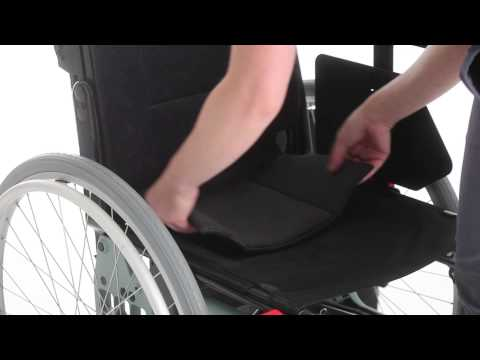 Wheelchair Etac Cross 5 - Guide - Adjust back support cover ENG