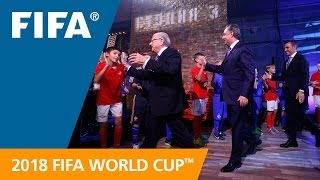 Russia went all out for the unveiling of the Official Emblem of the 2018 FIFA <b>World Cup</b>™, from late night television to the...</div><div class=