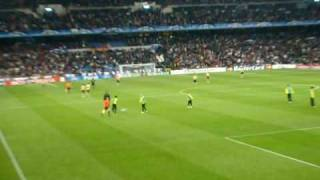 Riscaldamento Real Madrid-Juventus