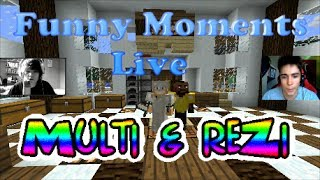 "Funny Moments / Skrót Z Live'a ReZi & Multi ""MINECRAFT"