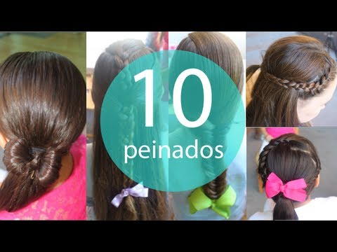 10 Peinados faciles y rapidos para niñas!