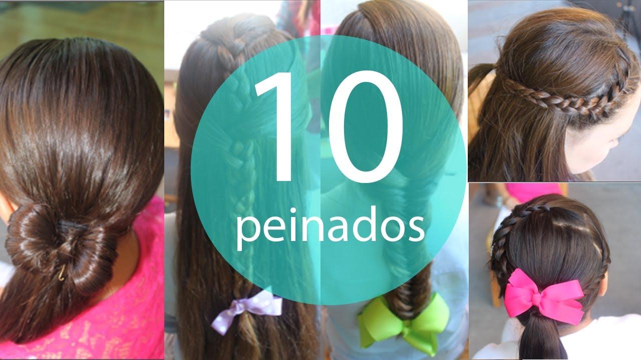 10 peinados faciles y rapidos para ni as youtube - Peinados de nina ...