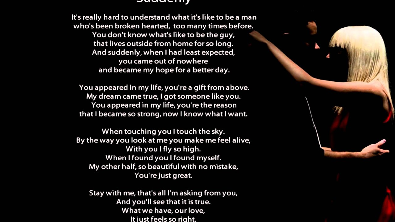 Gore Melian - Suddenly (Lyrics on Screen) new r&b soul songs 2013 love ...