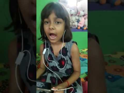 This little Indian girl singing a song... Shape of u..