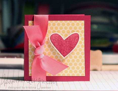 Easy valentines card make a card monday 7 youtube for How to make a good valentines day card