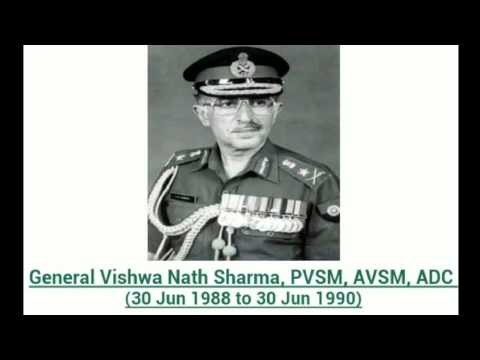27 Chiefs of THE INDIAN ARMY STAFF