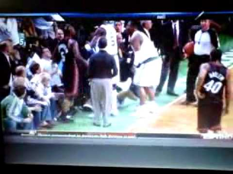 NBA Fight!!! K.G. ejected after 2 elbows!!!