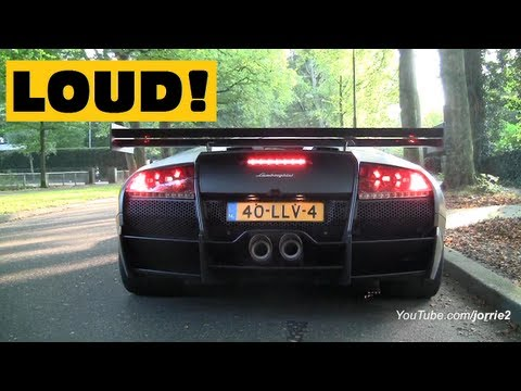 Murcielago LP670-4 SV LOUD Sounds!! Lovely Downshift! - 1080p HD