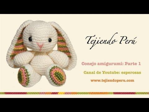 Conejo amigurumi (Parte 1: tejiendo el cuerpo y la cabeza)