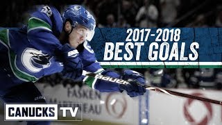Canucks Best Goals of 2017-2018