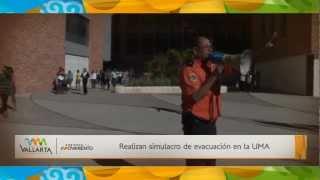 Realizan simulacro de evacuación en la UMA