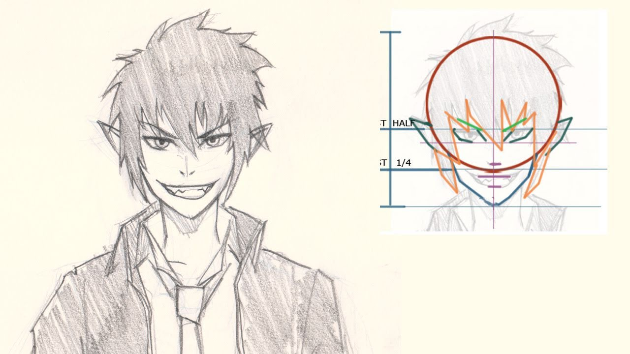 how to draw rin from blue exorcist manga youtube