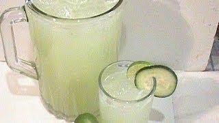 Como Preparar Agua De Pepino Con Limón Muy Fresca