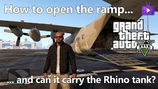 GTA V How To Open The Titan's (C-130) Cargo Ramp And