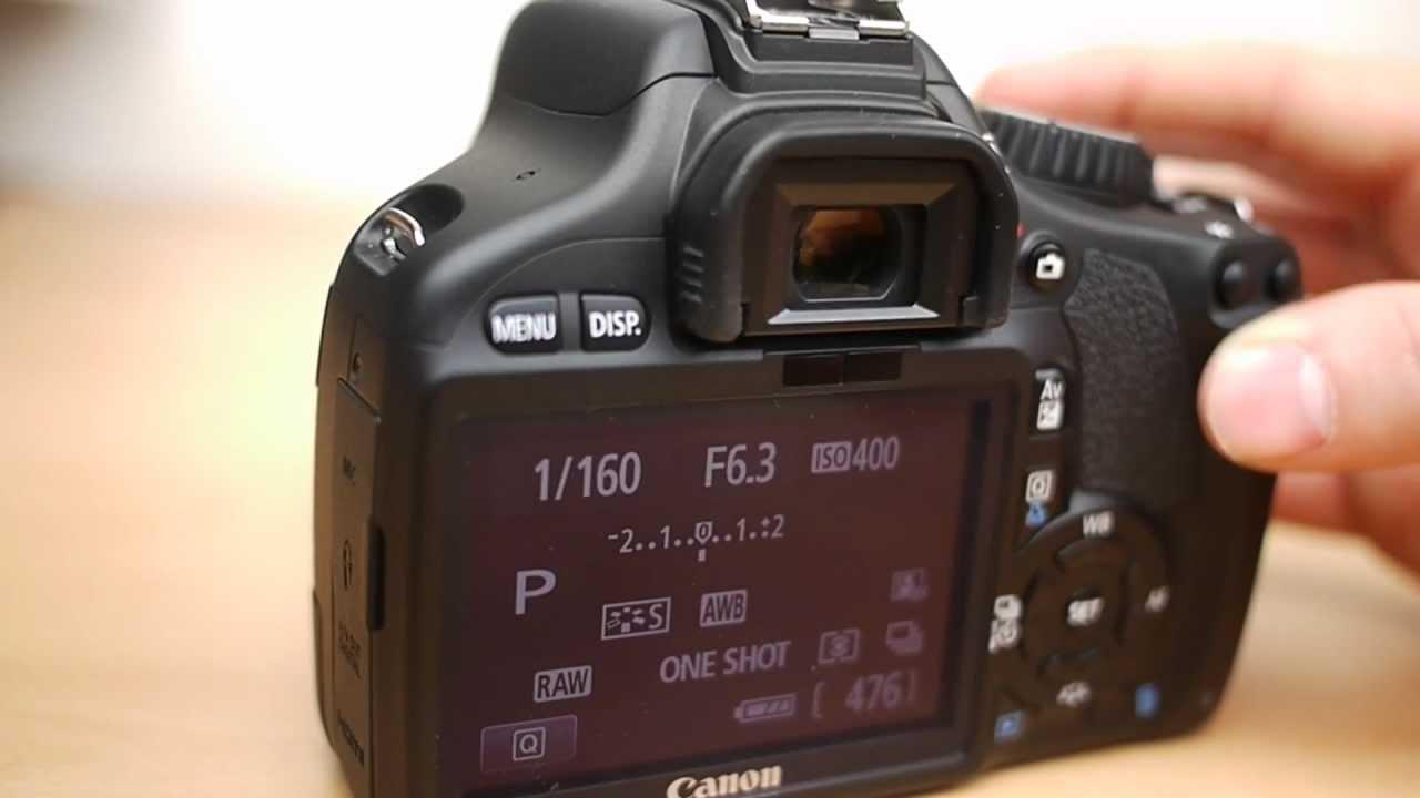 Как посмотреть пробег фотоаппарата canon 550d