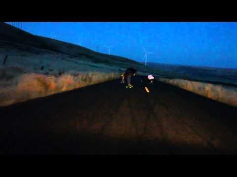Rad Train Mary Hill Dusk run 2013 longboarding