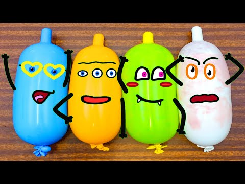 Making Slime With Funny Balloons Cute #Doodles #42 | RELAXING SATISFYING #SLIME