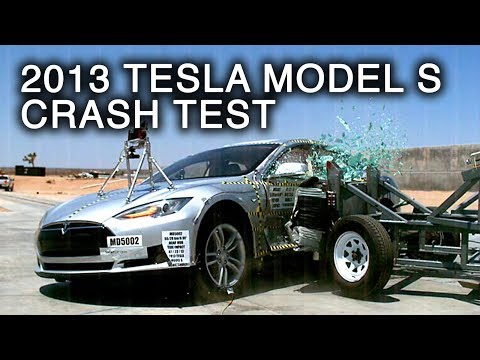 2013 Tesla Model S | Side Crash Test by NHTSA | CrashNet1