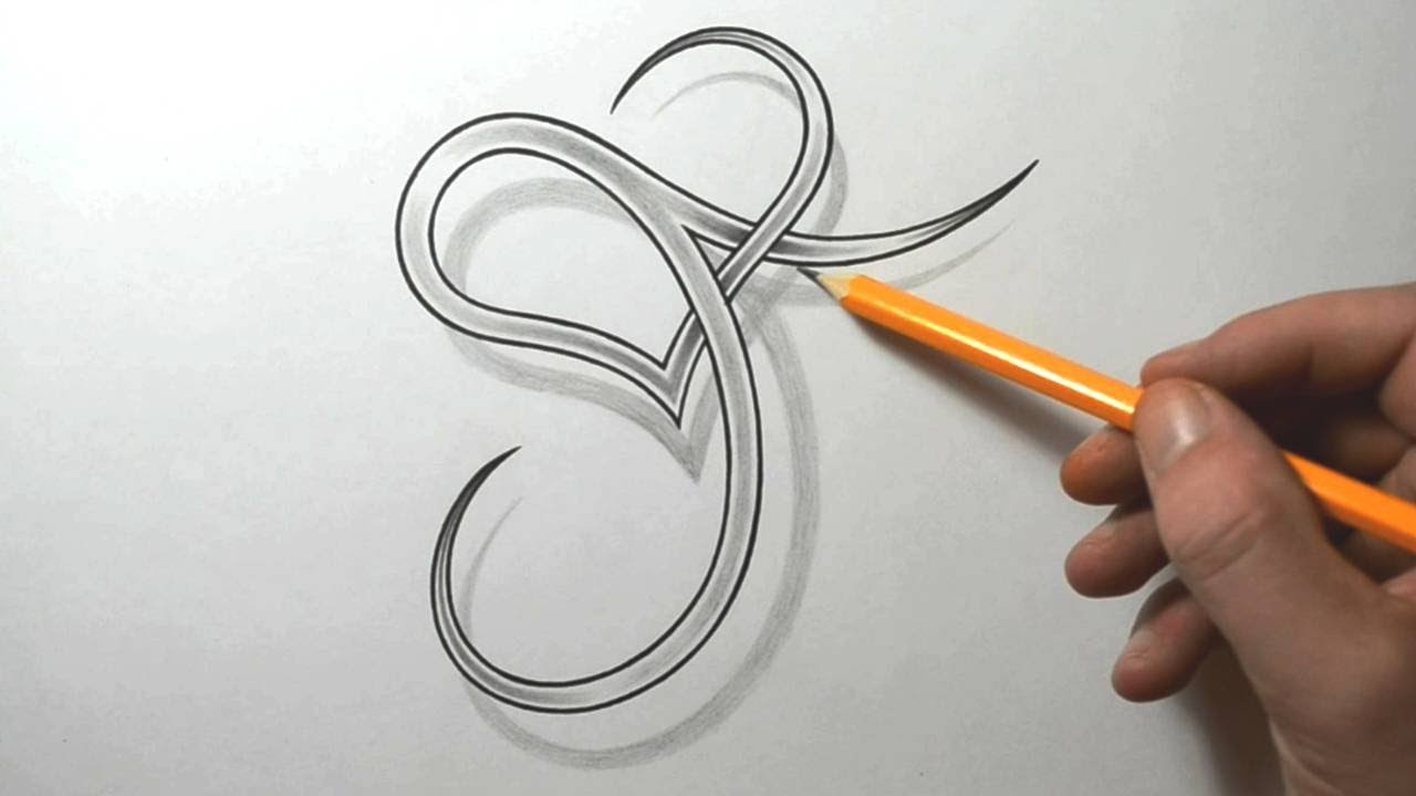 designing a stylized j with a heart