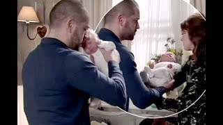 Coronation Street's Aidan Connor comes to massive realisation as he holds his baby daughter before h