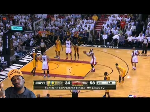 Beating ! Indiana Pacers vs Miami Heat game 6 nba playoffs 2014  4th straight year stats Reaction