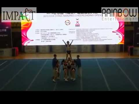 2013 CCA China Open Cheerleading Competition - Team IMPACT All Girl Group Stunt