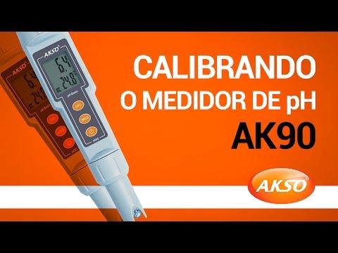 Calibrando o Medidor de pH AK90