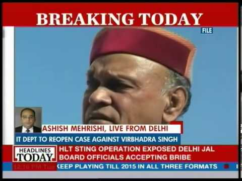 Fresh trouble for Virbhadra Singh; IT dept. sends notice to Himachal CM