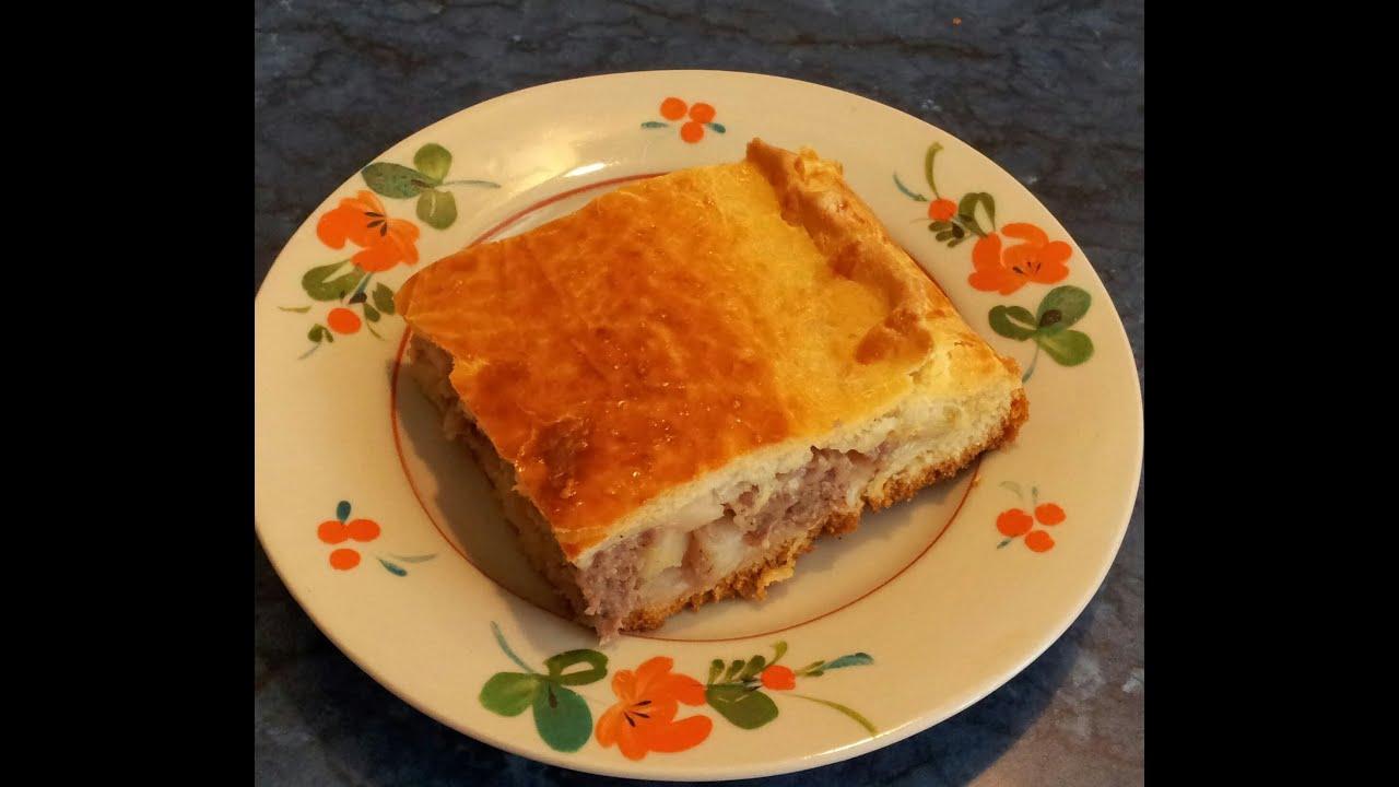 Быстрый пирог с мясным фаршем рецепт