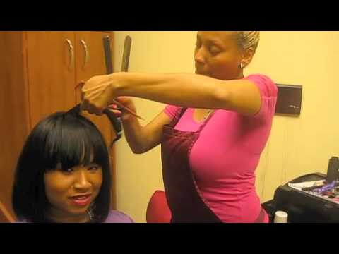 how to cut your weave with secorw