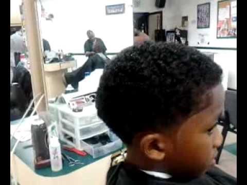 Taper w curls by barber chris leggett - YouTube