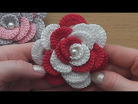 Crochet Flower Rose VERY EASY Tutorial