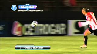 Gol de Burzio. Arsenal 1 - Instituto 3. 16 avos. de final. Copa Argentina.