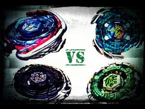 4D 4 WAY BATTLE!!! Blitz Unicorno vs Big Bang Pegasus vs ...