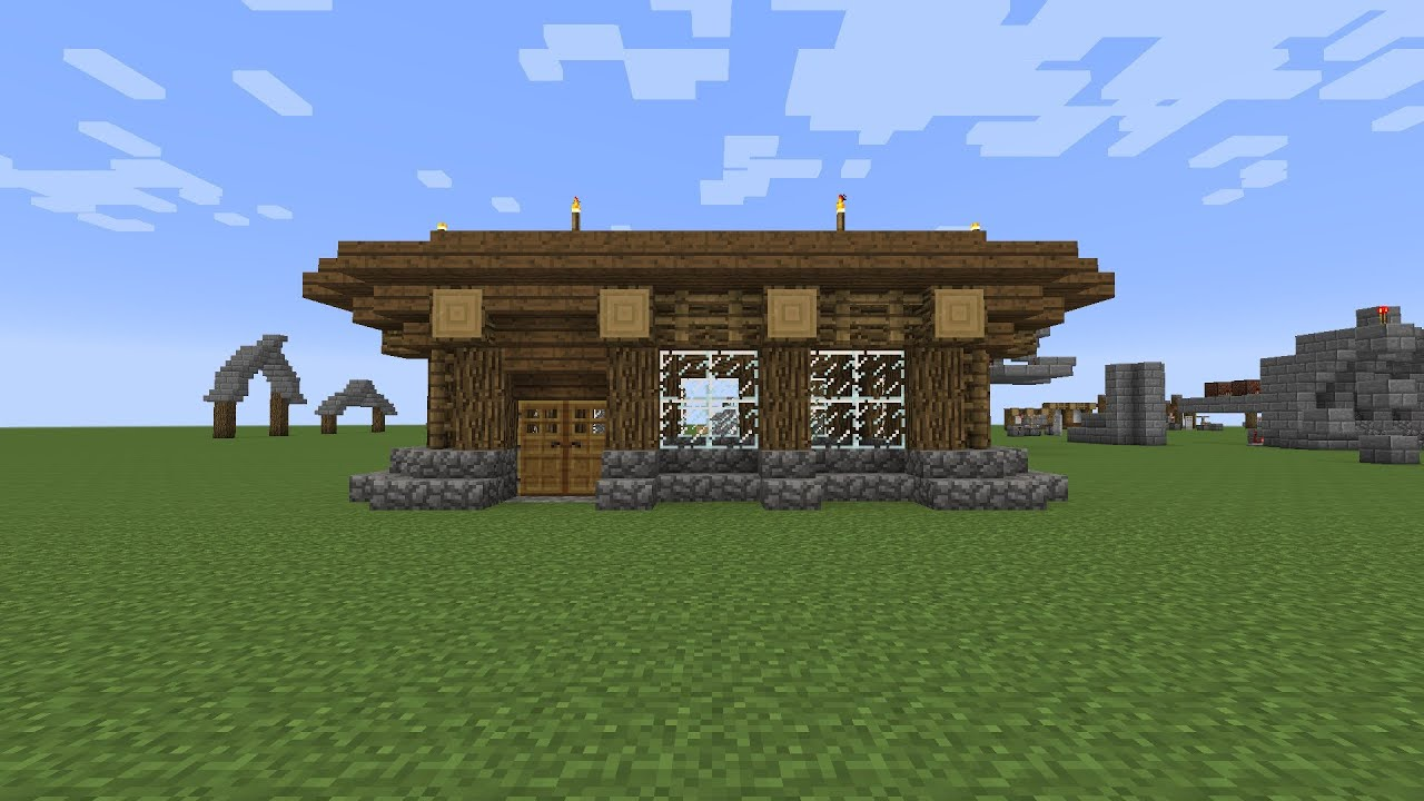Minecraft How To Build An Easy Starter Home Part 1
