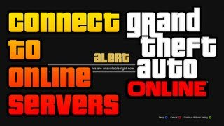 GTA V How To CONNECT To Rockstar Servers And Play GTA