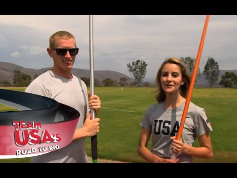 Tanith Tries Throwing The Javelin