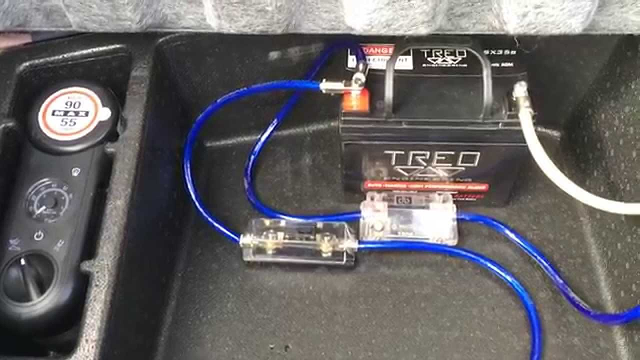 installation  battery  car audio custom