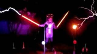 Zelda Theme Song Played on Tesla Coil Lightsabers