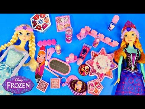 Frozen Queen Advent Calendar 24 Days of Surprise Toys Makeup Disney Elsa Anna Barbie Dolls