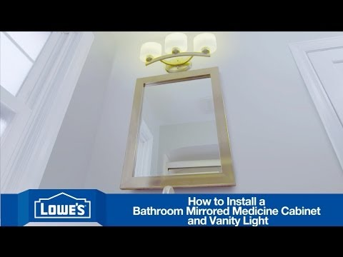 how to install a bathroom vanity mirror light youtube. Black Bedroom Furniture Sets. Home Design Ideas