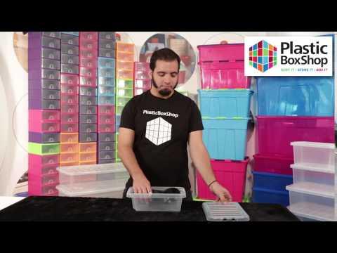 3.5lt Wham Crystal Plastic Storage Box with Lid