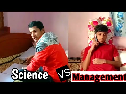 Science student vs Management student. Short funny video// anuj dhamala