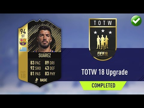TOTW 18 UPGRADE SBC! (CHEAPEST METHOD & COMPLETED) (FIFA 18 Ultimate Team)